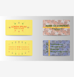 business card design with logo vector image vector image