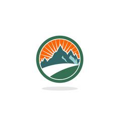 circle hill logo vector image vector image