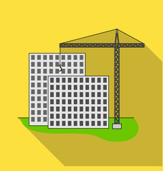 construction of houses real estaterealtor single vector image