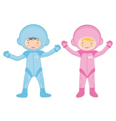 Cosmonaut kids vector