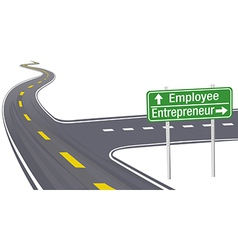 Entrepreneur Employee business decision sign vector image vector image