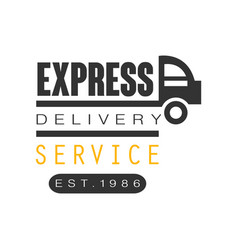 Express delivery service est 1986 logo design vector