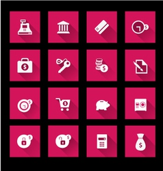 Finance and banking icons set vector image vector image