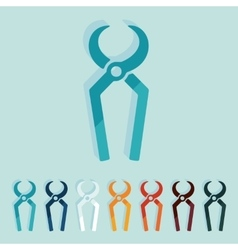 Flat design nippers vector image vector image