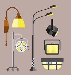 Flat electric lantern city lamp street urban vector