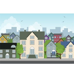 Home in the city vector image