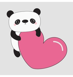 Kawaii panda baby bear cute cartoon character vector