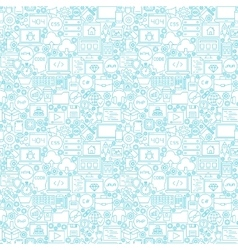 Line coding white seamless pattern vector