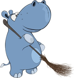 Little hippopotamus vector image vector image