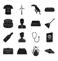Profession music travel and other web icon in vector