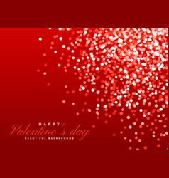 red glitter bokeh background light effect for vector image vector image