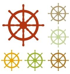 Ship wheel sign vector