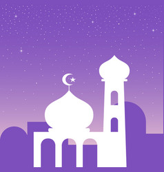 Simple graphic of a mosque vector