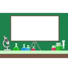 study of chemistry vector image