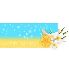 Summer horizontal banner vector