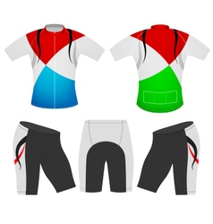 T shirt sports colors vector
