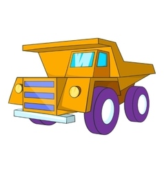 Truck icon cartoon style vector