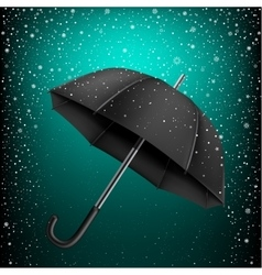 Umbrella and azure snow background vector
