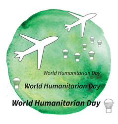 World humanitarian day vector
