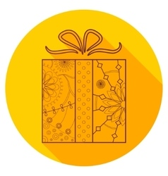 Flat icon of present vector image