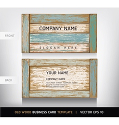 Weathered board business card vector