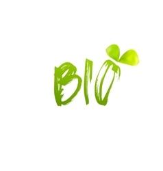 Bio logo design with leaf vector