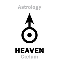 Astrology sign of heaven coelum vector