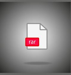 Rar archive file icon vector