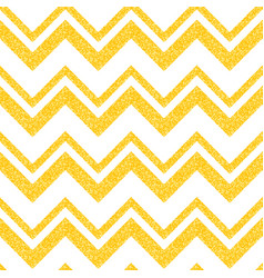 gold glittering seamless pattern in zigzag vector image