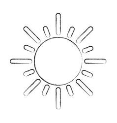 summer sun isolated icon vector image