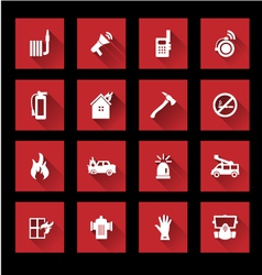 Fire services icons vector