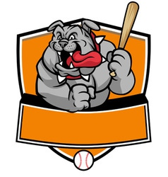 Bulldog baseball mascot vector