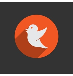 Drawing of a bird holding for social media tag vector