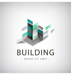 Concept graphic - colorful buildings of vector