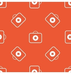 Orange first aid kit pattern vector