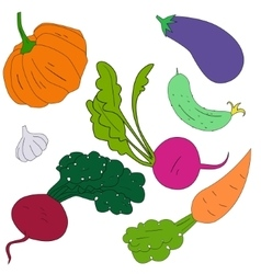 Green vegetables healthy food vector