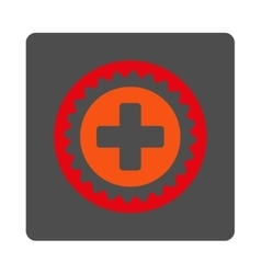 Medical stamp flat button vector
