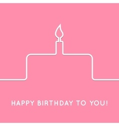 Happy birthday retro postcard with cake icon vector