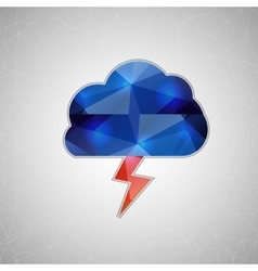Creative concept icon of thunderstorm for vector