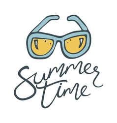 Summer time sunglasses vector