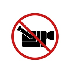 Video cam not allowed video recording forbidden vector