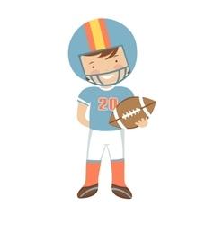 American Football player character vector image