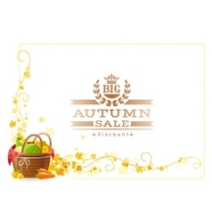 Autumn thanksgiving background with text vector image vector image