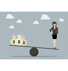 Balancing between work and money vector