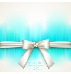 Blue background with white bow vector