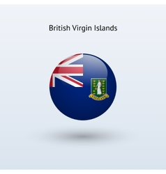 British virgin islands round flag vector