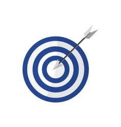 bullseye with arrow in the center vector image