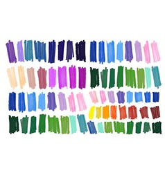 Color stripes drawn with markers vector image vector image