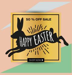 easter egg sale banner background template 25 vector image vector image