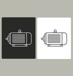 electric motor - icon vector image vector image
